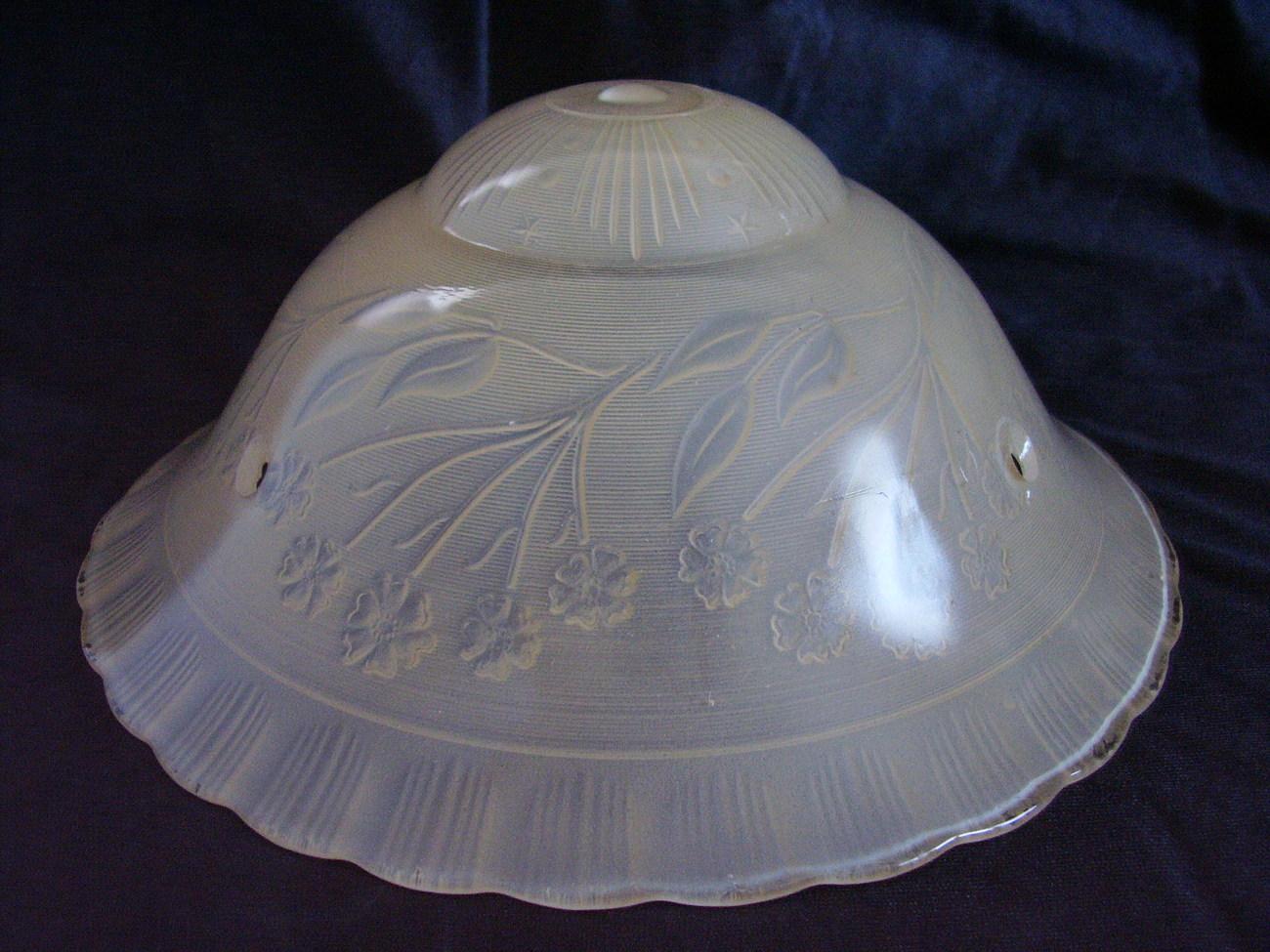 Vintage Glass Ceiling Shade Lamp 3 Hole Vintage Peach