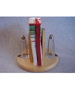 Wood Napkin Salt Pepper Caddy Handmade Maple & ... - $48.00