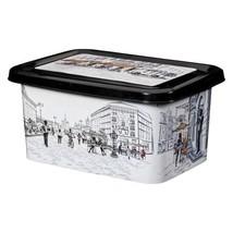 Excellent Plastique récipient Urban avec décoré IML City, 15 litres, Noi... - $18.27