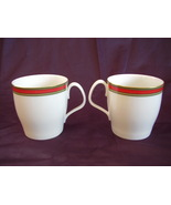 Royal Doulton Ribbon Mugs Set of 2 Red Green Gold  - $24.00