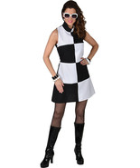 Deluxe Swinging 60's Black / White Mary Quant Dress  - Sizes 6 to 24 - $35.01