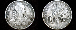 1941-S French Indo-China 10 Cent World Coin - Vietnam - $6.49