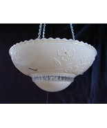 Hanging 3 Hole Lamp Shade Pastel Pink and Clear... - $46.00