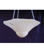 Vintage Glass Ceiling Shade Lamp 3 Hole Vintage... - $20.00