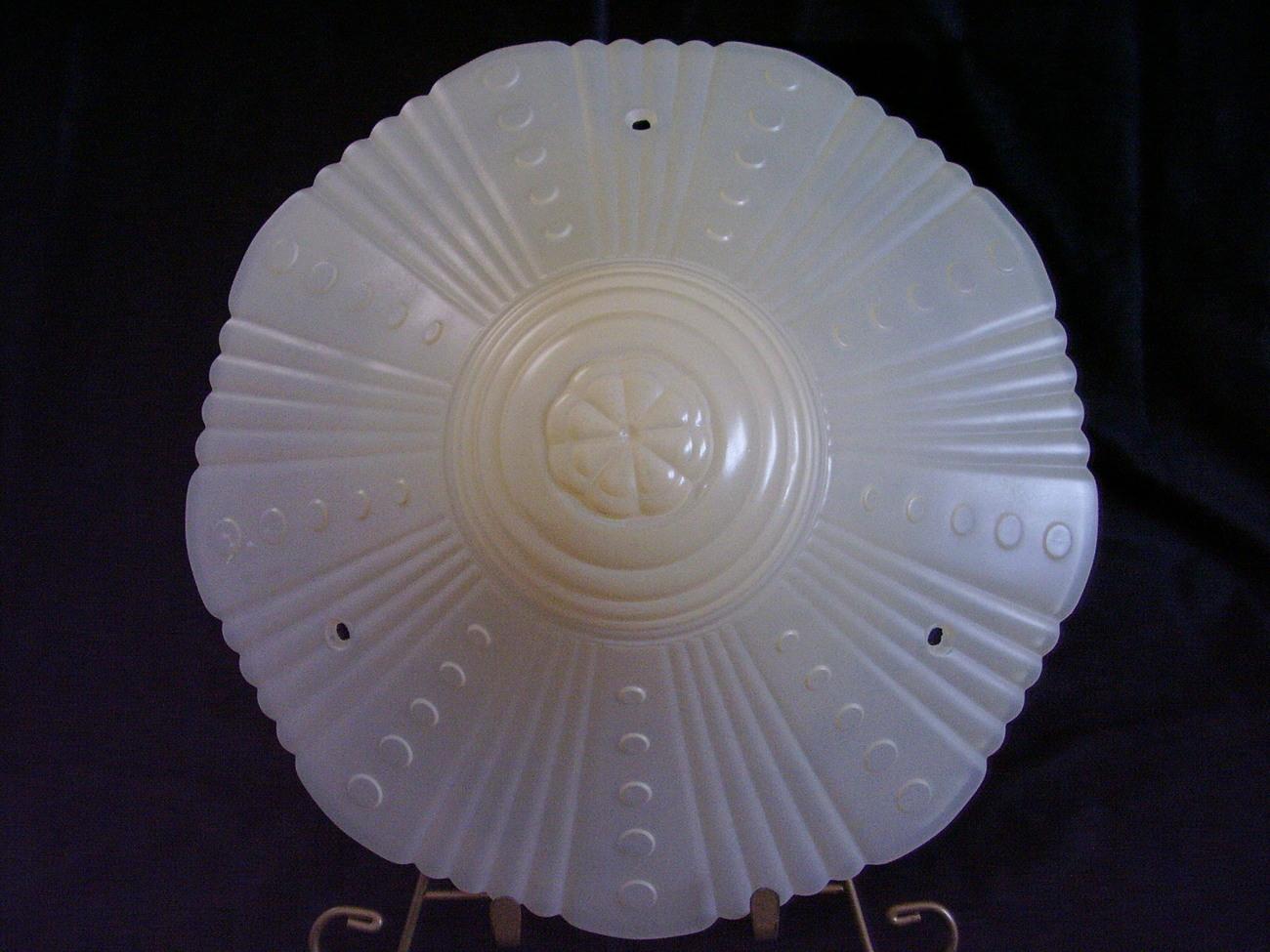 Vintage Glass Ceiling Shade Lamp 3 Hole Vintage Ivory C