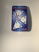 DELUXE TRI-OMINOS Game In Tin Pressman #4419 Crystalline Tiles Brass Spinners - $23.36