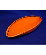 50's Eames California USA Orange Gold Canoe Boat Dish - $18.00