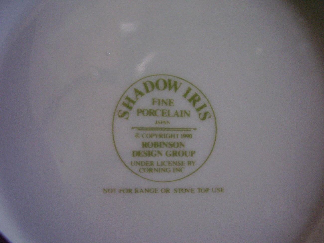 Corelle Shadow Iris Teapot 32 oz. No Lid
