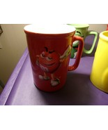 M&M Cup/Mug  2011 Red Green Yellow Coffee Set Of 3 + 2006 M&M World Cup  - $28.21