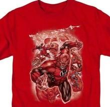 Green Lantern Red Lantern Corps Comics Supervillains red graphic t-shirt DCR113 image 2