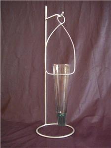 Modern Tabletop Hanging Pendant Glass Vase Metal Holder