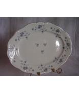 Johann Haviland Blue Garland Platinum Trim Platter - $40.00