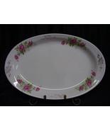 Vintage Homer Laughlin Pink Roses Gold Design Platter - $15.00