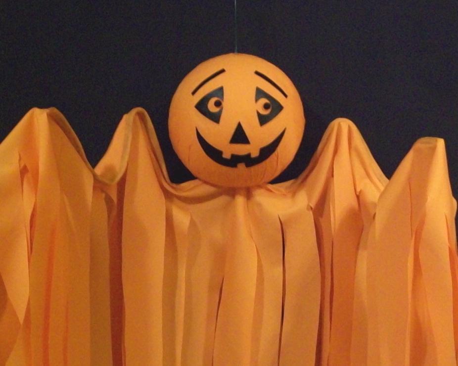 Halloween Hanging Pumpkin Flyer, Hand-Crafted