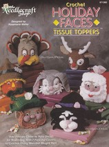 Holiday Faces Tissue Toppers, Needlecraft Shop Crochet Pattern Booklet 9... - $18.95