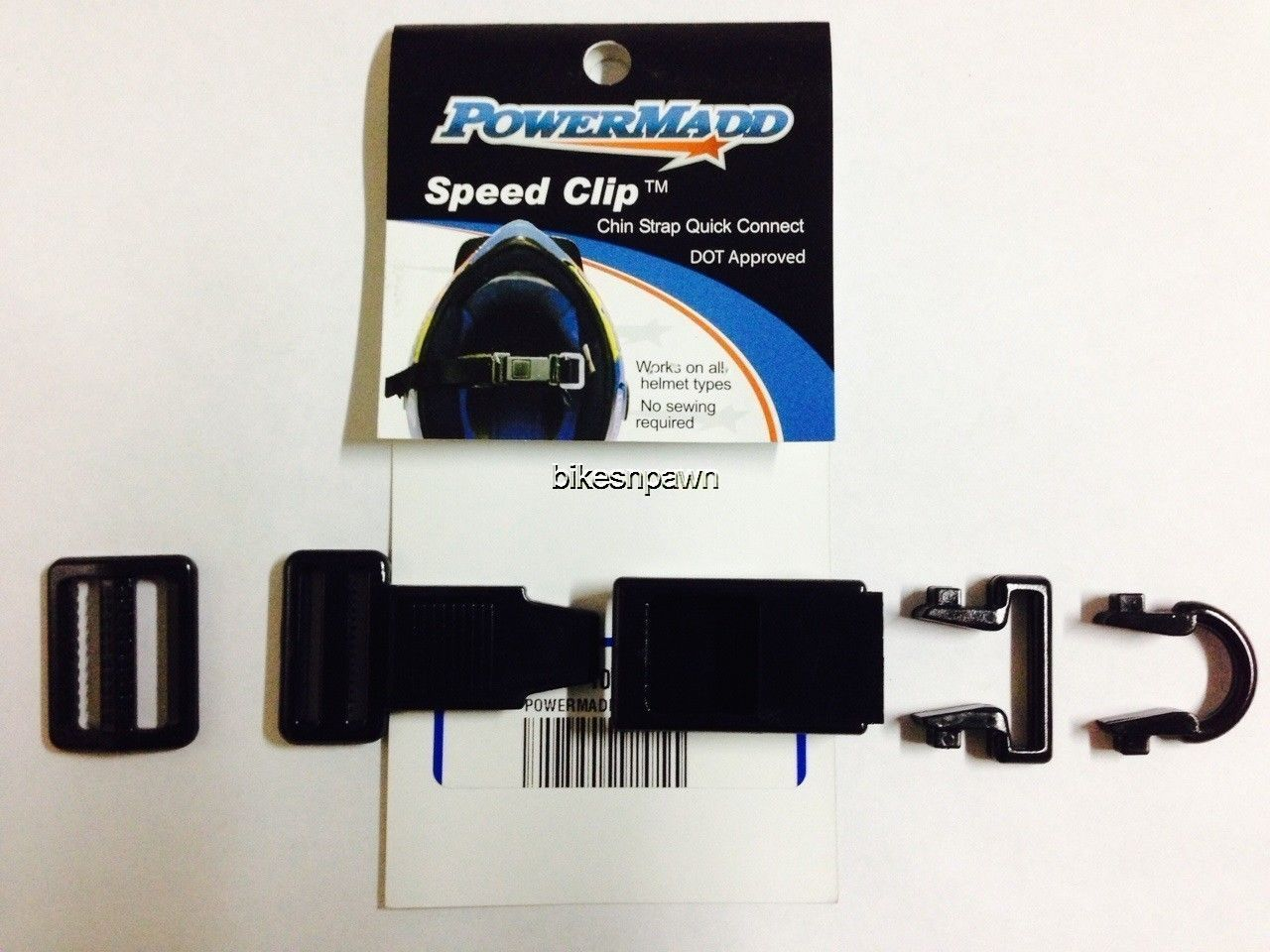 New 2 Pack Powermadd Speed Clip Quick Buckle Helmet Strap Connect Kits