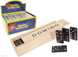Dominoes Game Play Set In Wooden Box #cjh - $6.89