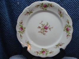 Johann Haviland China Bavaria, Moss Rose pattern white porcelain dinner plate. - $15.00