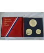 1776-1976 BICENTENNIAL 3 PC COIN SET 40% SILVER... - $16.00