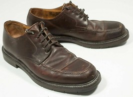 Johnston & Murphy Leather Brown Shoes Oxfords Mens Sz 9 M Made In Italy - $35.00