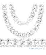 Cuban Curb 8mm Link Solid 925 Italy Sterling Silver Men's Italian Chain ... - $154.43+