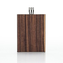 Pocket Flask, Wood Paneled Stainless Steel Whiskey Liquor Alcohol Flasks... - €28,08 EUR