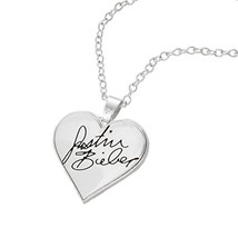 Justin Bieber Signature Heart Necklace - $29.36