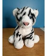 "15"" Build A Bear Siberian White Tiger Cat Blue Eyes 2016 Plush Stuffed BABW - $14.84"