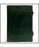 Natural Handicraft Leather Journal Embossed Tree of Life Book of Shadows... - $35.80