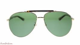 25abbb1e509 Previous. Gucci Men s Aviator Sunglasses GG0014 006 Gold Havana GreenPolarized  Lens 60mm