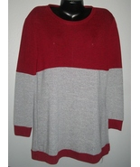 Burgundy & Grey Knit Jersey Style Top NWT - $19.99