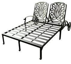 Outdoor Chaise Lounge Patio Furniture  Elisabeth Cast Alumnum Bronze image 2