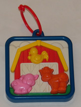 VTG Shelcore Old MacDonald Had Farm Musical Crib Stroller Baby Toy Hard ... - $19.30