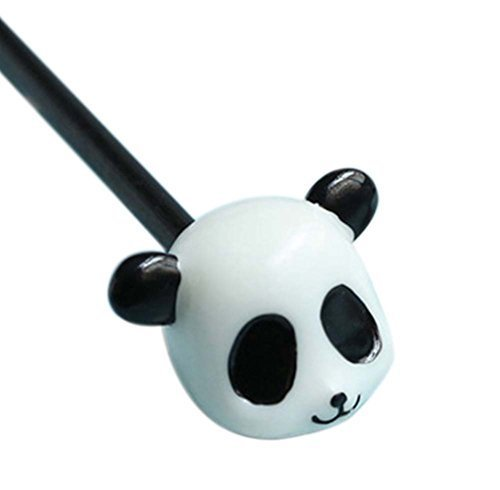 2 Pieces of Cartoon DIY Wood Hair Accessories For Flaxen Hair, Panda