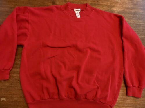 vtg usa made 80's 90's HANES raglan sweatshirt, size XL red 50/50
