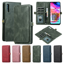 Retro Leather Removable Zipper Case Cover For Samsung Galaxy A70/A50/A30/A20/A10 - $80.00