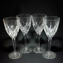 4 (Four) MIKASA APOLLO Cut Lead Crystal 8 1/4 Inch Water Goblets Glasses - $65.54