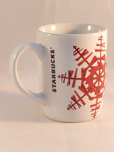 Starbucks 2012 Holiday Coffee Mug Red Snowflake Christmas - $9.89