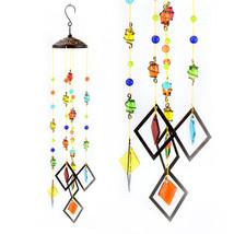 Glass Mobile Multi Color Wind Chime - $23.98