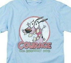 Courage the Cowardly Dog T-shirt 90's cartoon graphic 100% cotton tee CN273 image 2