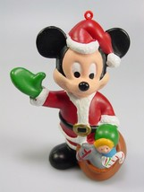 Disney Mickey Mouse Christmas Ornament plastic Santa kurt adler - $16.57