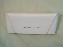 Michael Kors white eyeglass case with cloth  Logo on both  NEW - $14.84