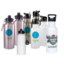 Custom Personalize SS & Aluminum Water Bottle - 600ML Free Shipping! - $12.85+
