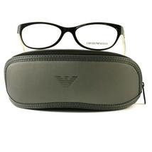 Emporio Armani EA3008 Eyeglasses 5051 Black/White Full Rim Plastic 51 16... - $57.00