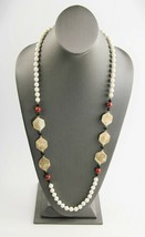 """30""""  VINTAGE ESTATE Jewelry CHINESE EXPORT HAND KNOTTED GEMSTONE BEAD NE... - $75.00"""