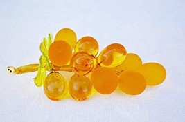 Murano Glass Medium Gold Grapes - Handmade In Italy - $41.02