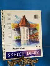 "11"" X 9"" 70 Sheets Sketch Diary By IMPRESSIONS. - $23.36"