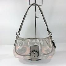 Coach F19238 Soho Optic Linen Flap Purse Handbag Shoulder Bag - $89.05