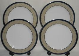 Set (4) Mikasa Fine China DELACOURT PATTERN Dinner Plates - $49.49