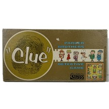 Vintage Clue Board 1963 Game Parker Brothers Detective Made In USA - £10.90 GBP